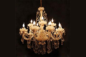 水晶蜡烛灯怎么做成的?怎么安装?