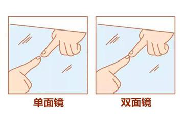 双面镜和单面镜如何区别?用手指真的可以识别出来吗?